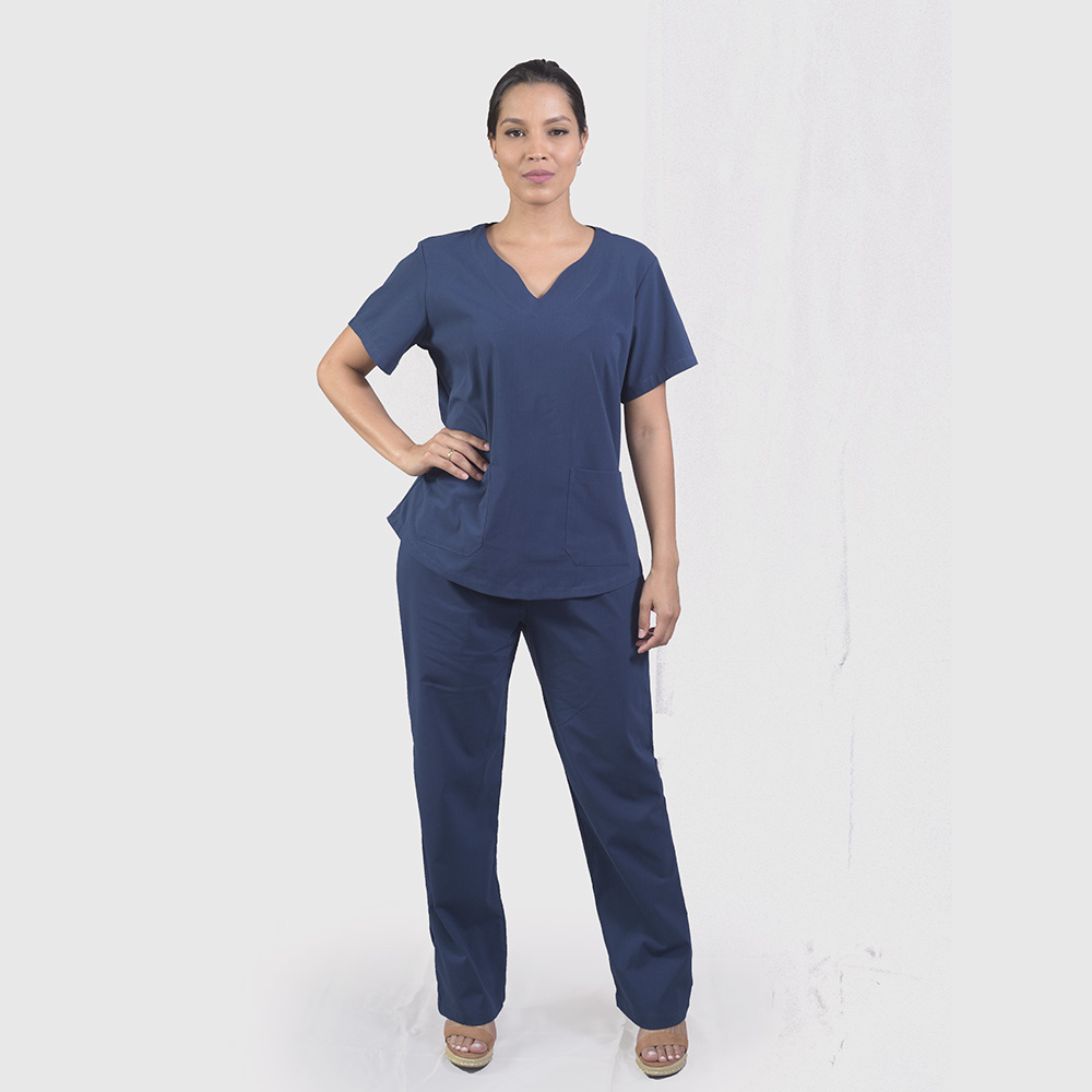 Pijama Cirúrgico Azul Marinho - Feminino