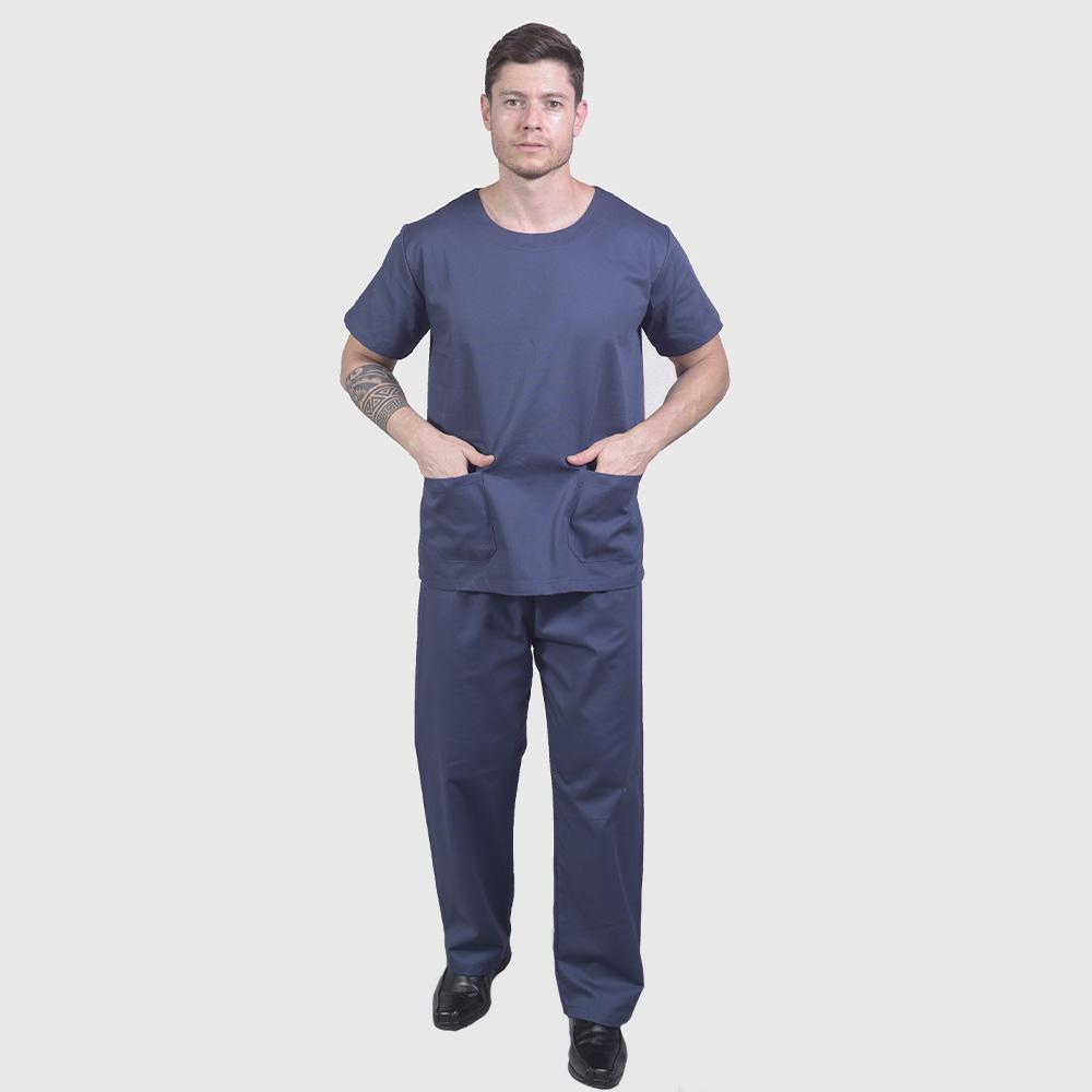 Pijama Cirúrgico Azul Marinho - Unissex