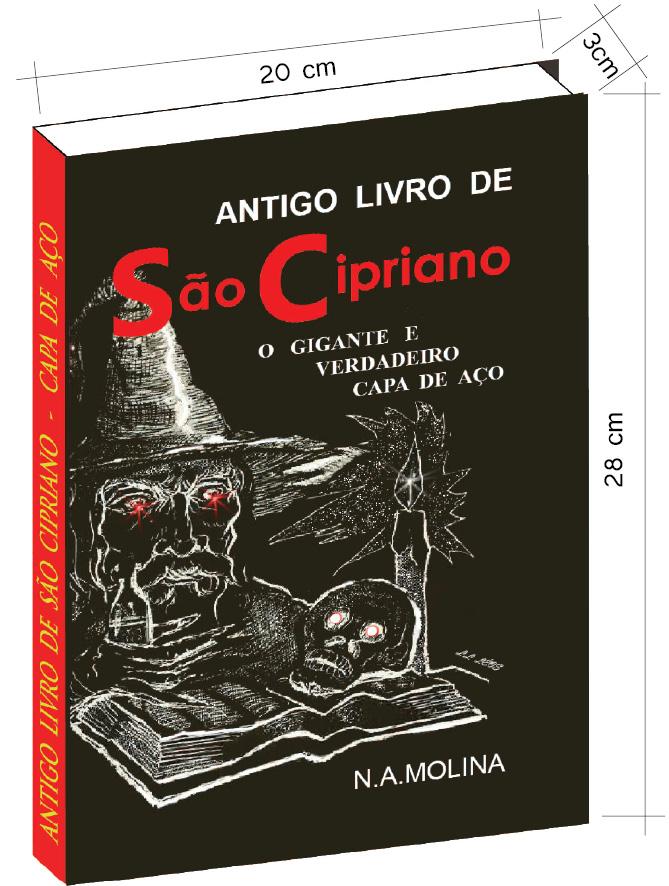 Antigo livro de São Cipriano, o Gigante e verdadeiro Capa de Aço  - Livropostal Editora