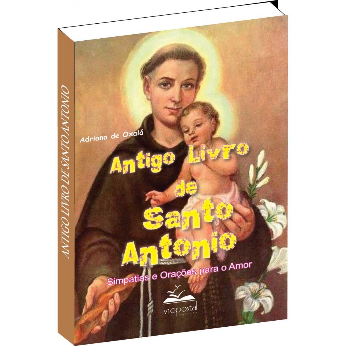 Brinde na compra de 2 livros - Antigo livro de Santo Antonio  - Livropostal Editora