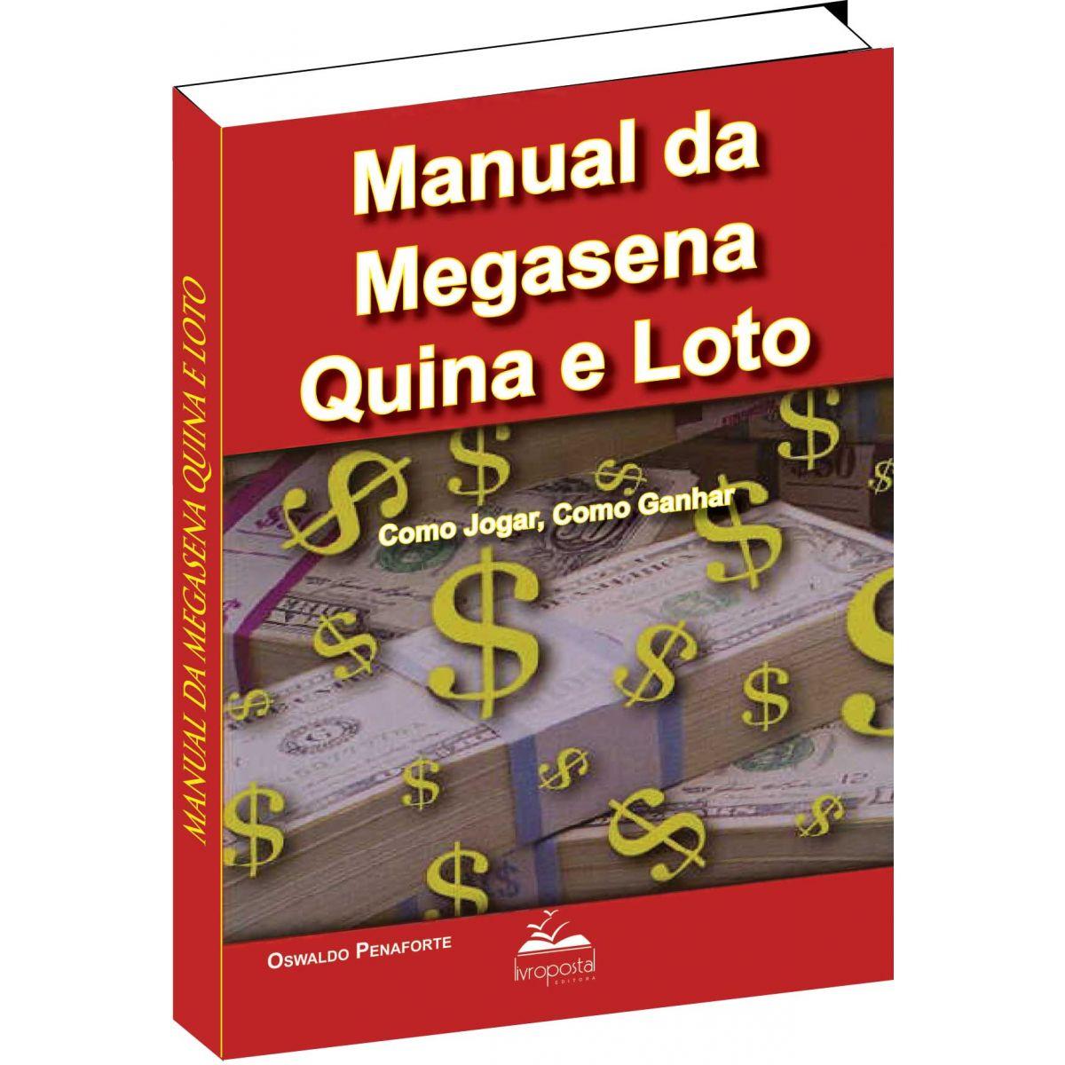 Brinde na compra de 2 livros - Manual da Mega-sena Quina e Loto  - Livropostal Editora