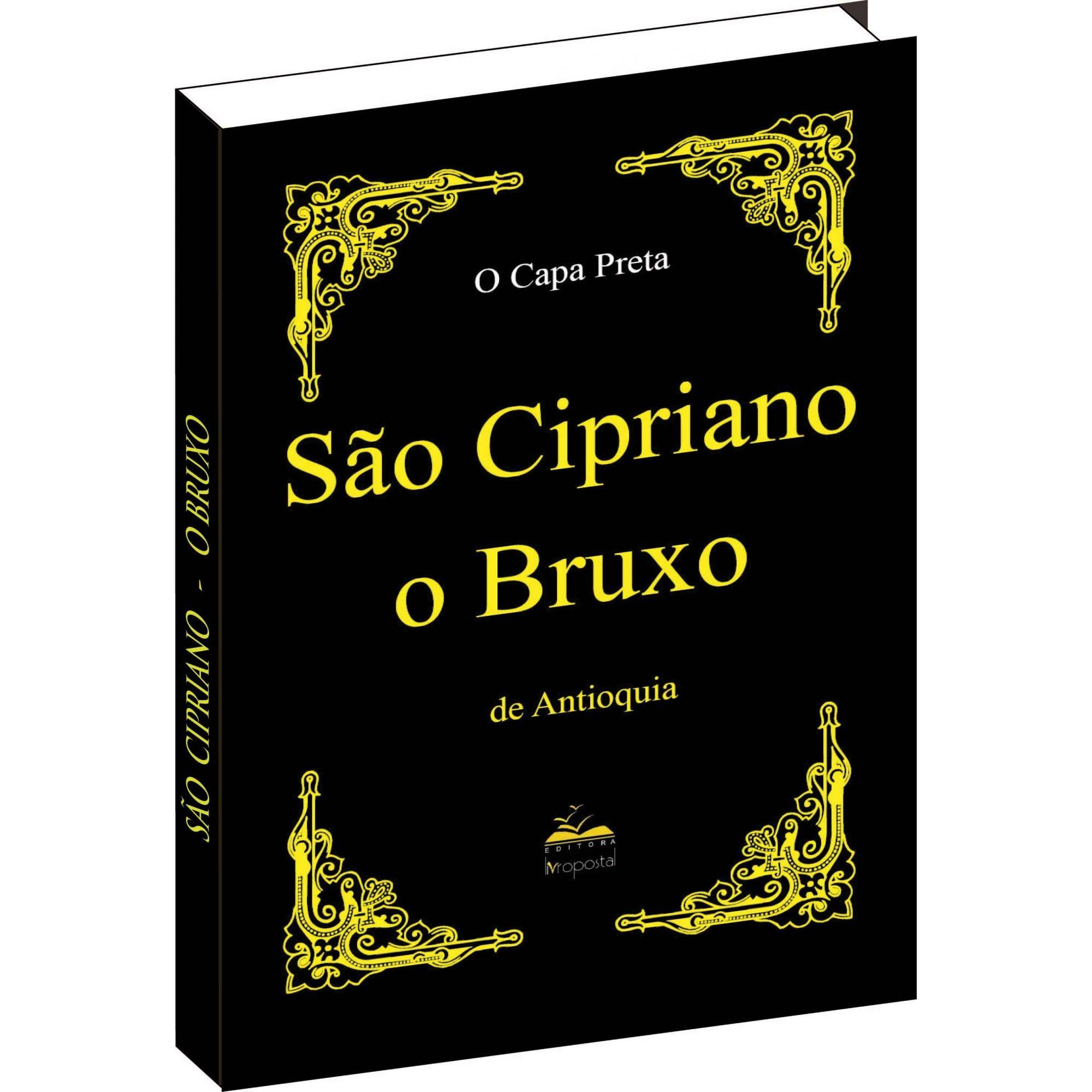 Livro de São Cipriano o Bruxo -  Capa Preta  - Livropostal Editora
