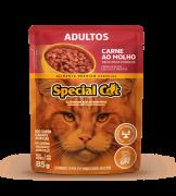 SPECIAL CAT ADULTOS CARNE AO MOLHO 85G