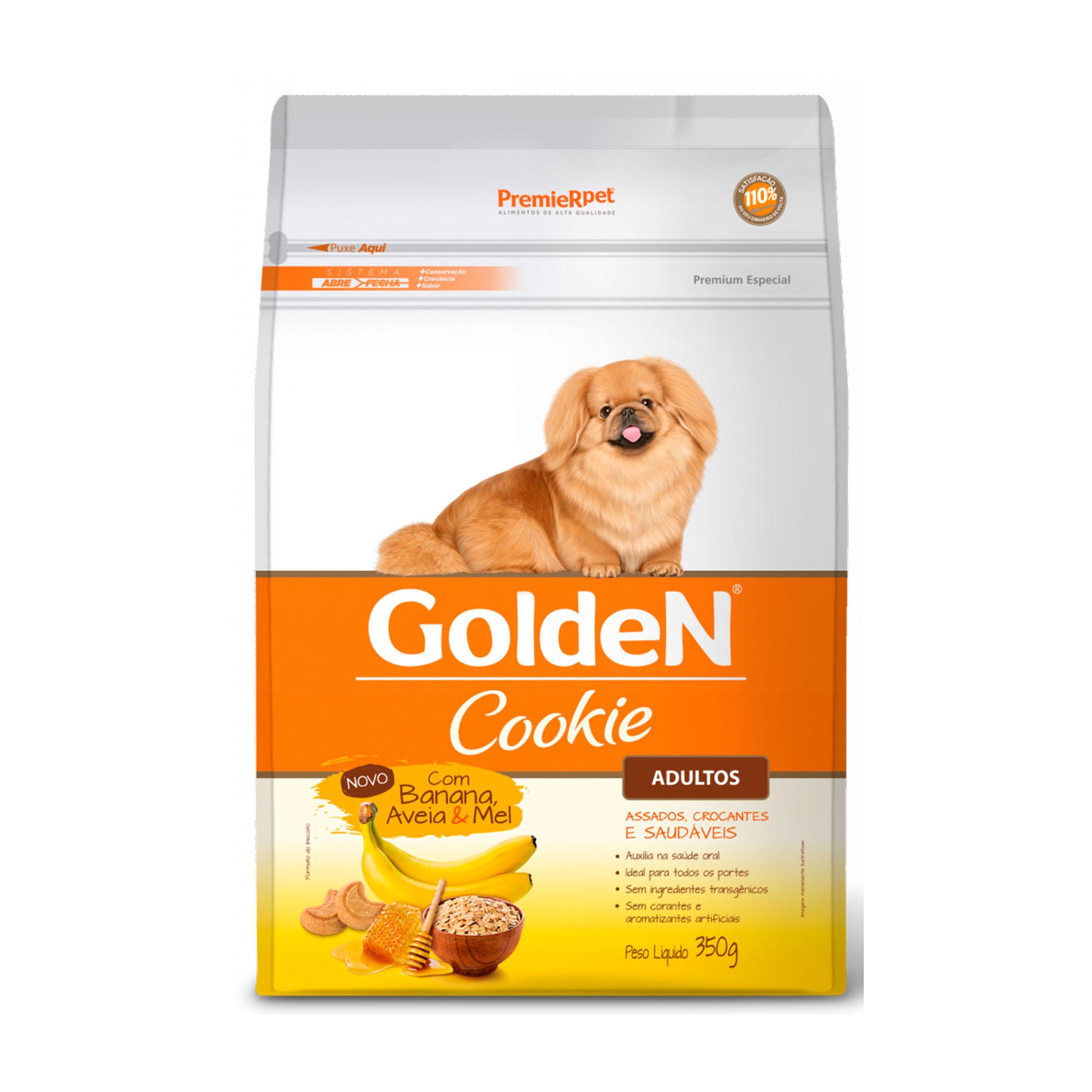 Golden Cookie Cães Adultos Banana, Aveia & Mel 350g