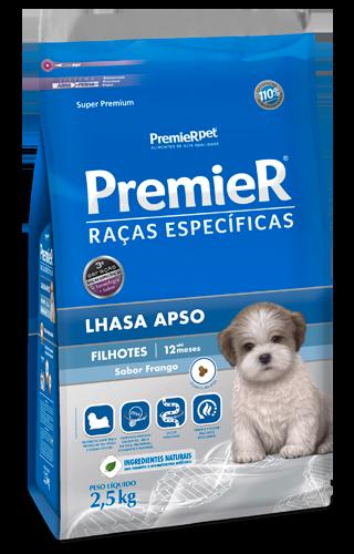 PREMIER RAÇAS ESPECÍFICAS LHASA APSO FILHOTES SABOR FRANGO 2,5KG