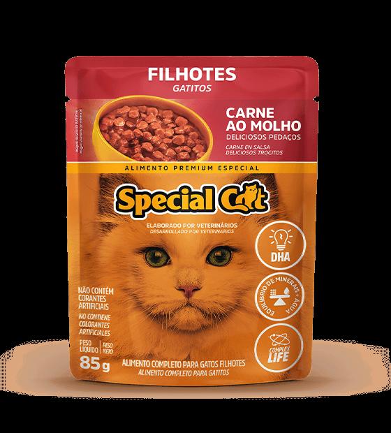 SPECIAL CAT FILHOTES CARNE AO MOLHO 85G