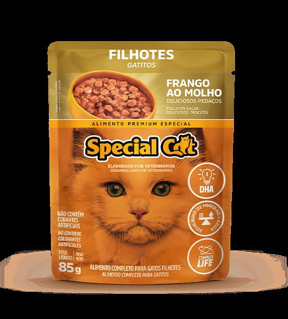 SPECIAL CAT FILHOTES FRANGO AO MOLHO 85G