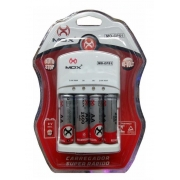 carregador de pilhas Mox com a pilhas AA 2600 mah MO-cp51