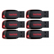 Pen Drive Sandisk 8 Gb Kit com 6 unidades