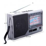 Radio Am Fm 8 bandas Usb Sd Bluetooth Pilha E bat Recarregavel