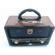 radio retro am fm usb sd bluetooth pilha 110v 220v recarregavel