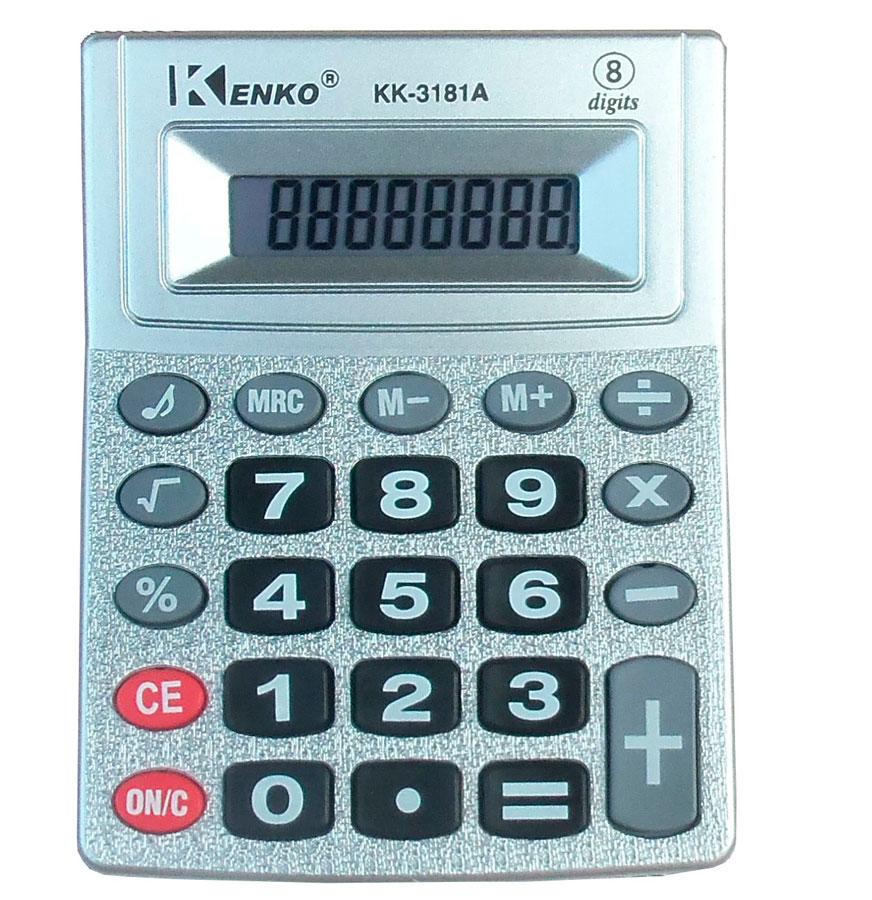 Calculadora 8 digitos kenko kk3181 kit com 10 unidades