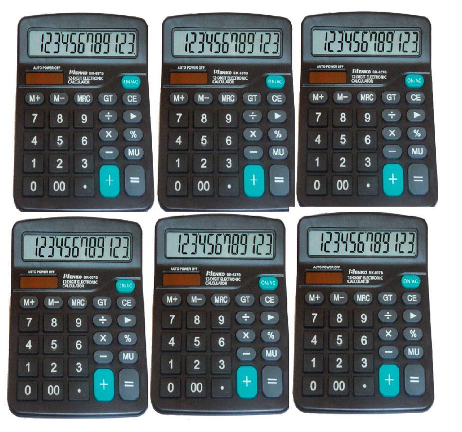 calculadora de mesa  no Atacado kit com 6 uniodades 12 digitos Kenko kk-837