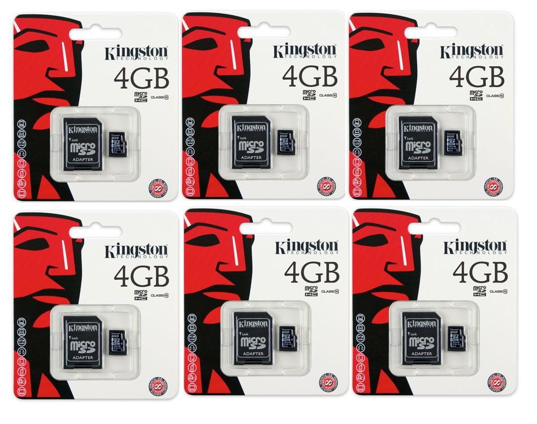 Cartão De memoria Microsd 8Gb Kit com 6 Unidades