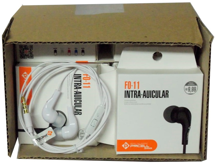 fone de ouvido Pmcell kit com 10 unidades