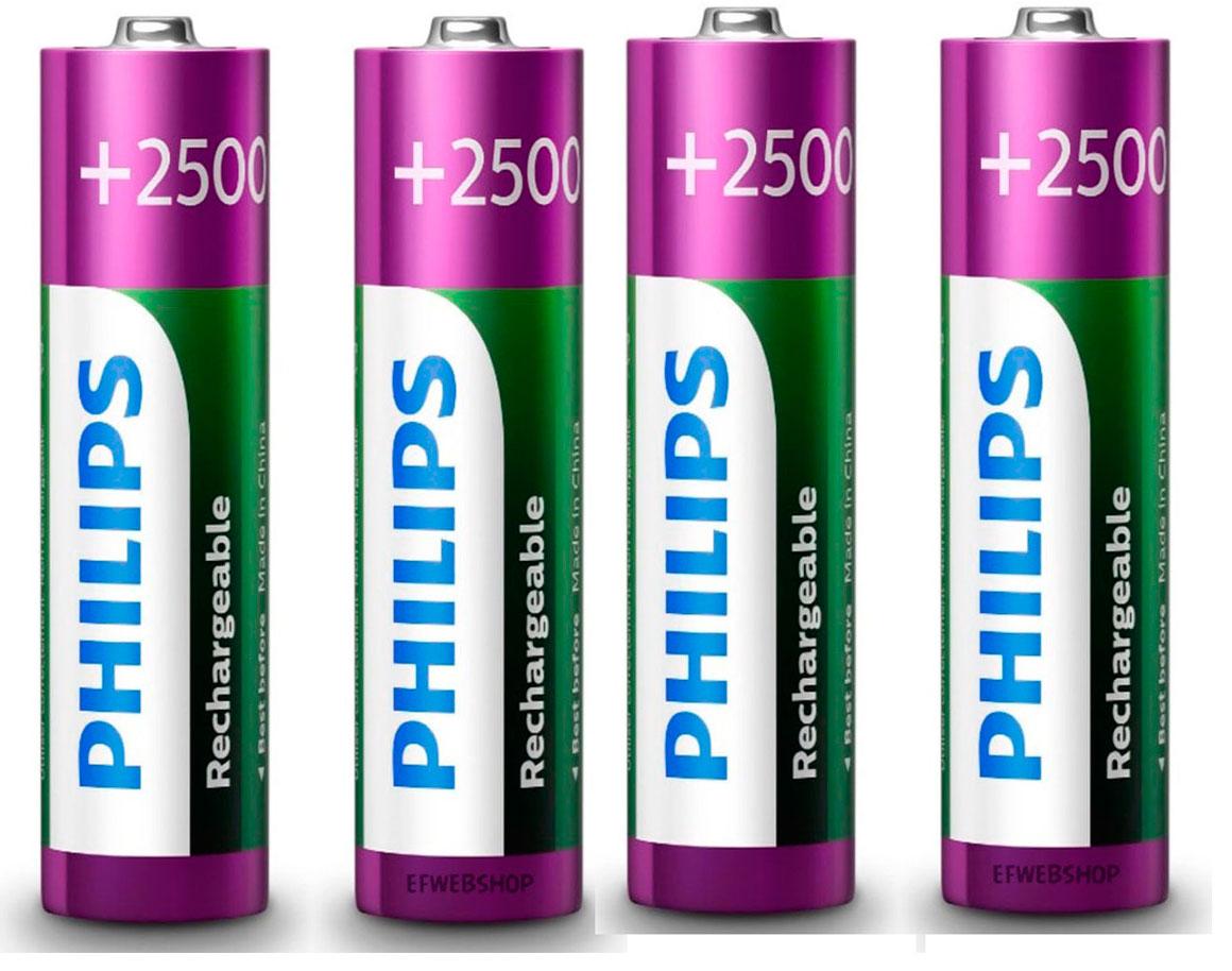 pilha recarregavel  AA 2500 mah Philips