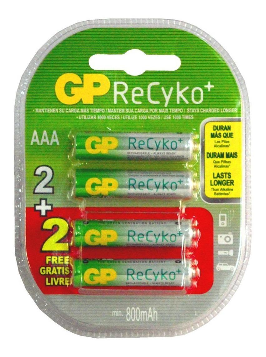 pilha recarregavel Gp recyko AAA 800 mah