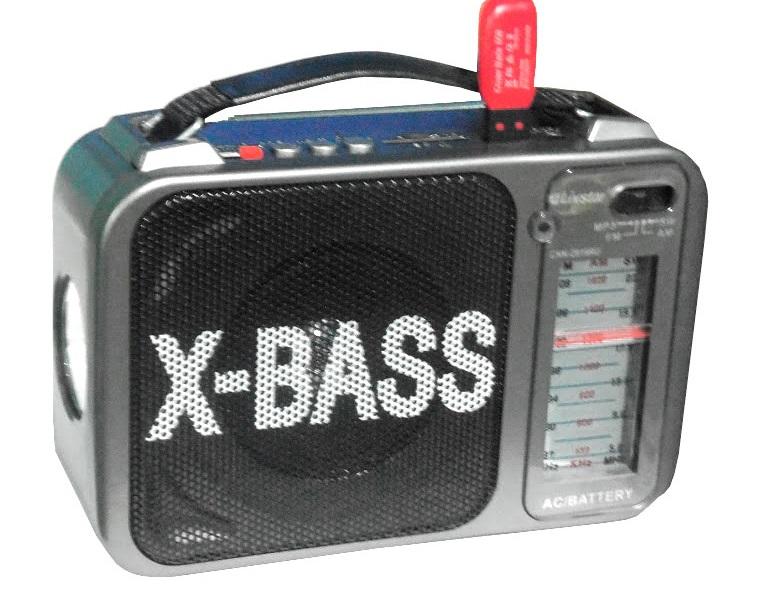 Radio 3 bandas Lanterna, Sd Usb, pilha 110v 220v, recarregavel