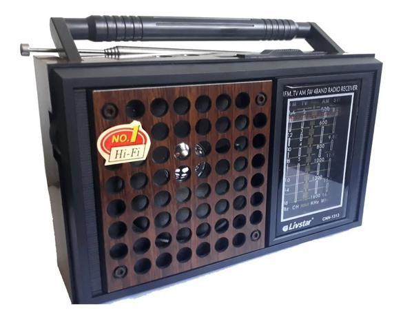 radio am fm com som de tv 4 bandas 110v 220v