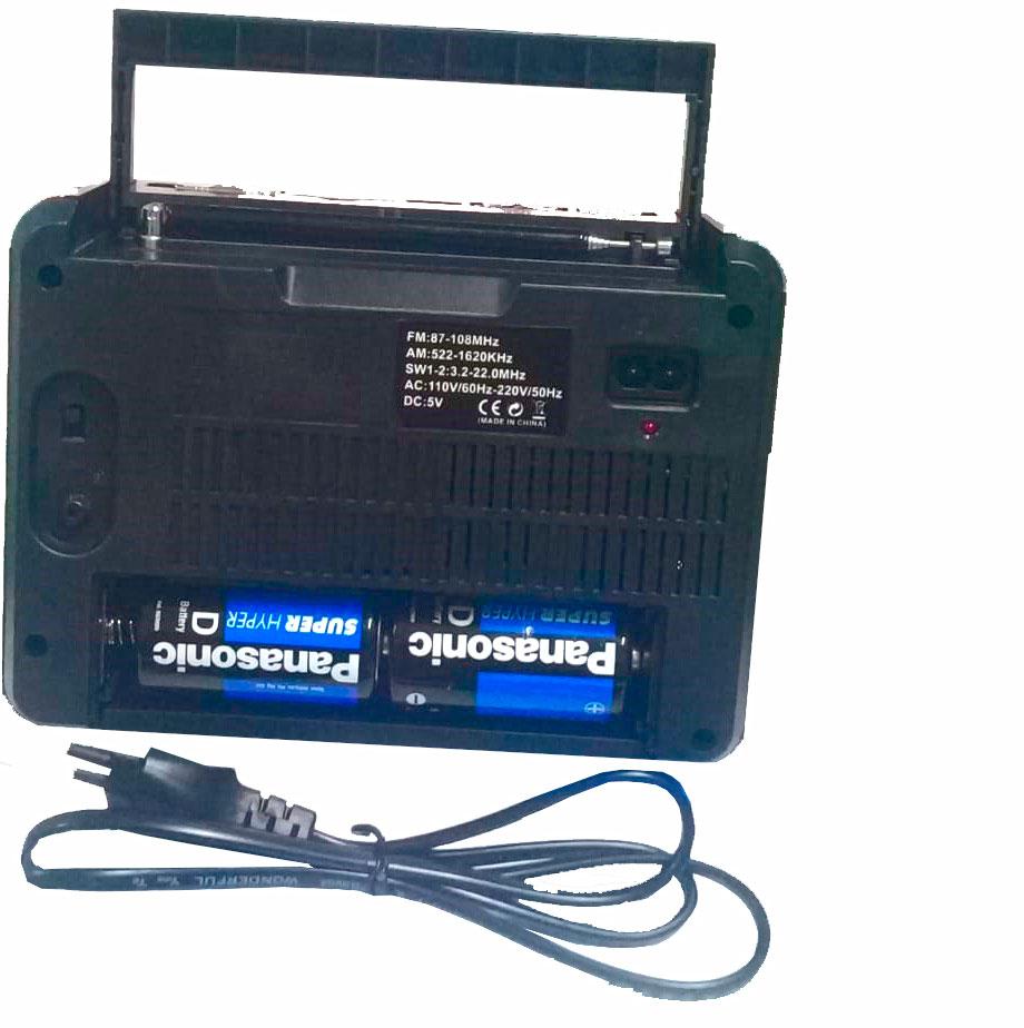 radio am fm com usb pilha 110v 220v recarregavel Lelong le-616