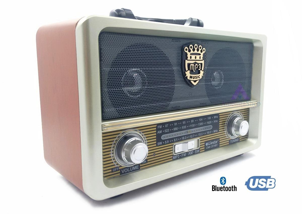 radio retro am fm usb sd bluetooth pilha 110v 220v recarregavel