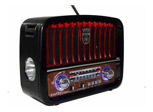 Radio retro Livstar com Lanterna usb sd Bluetooth pilha 110v 220v recarregavel