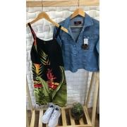 Kit Vestido Estampado e Jaqueta