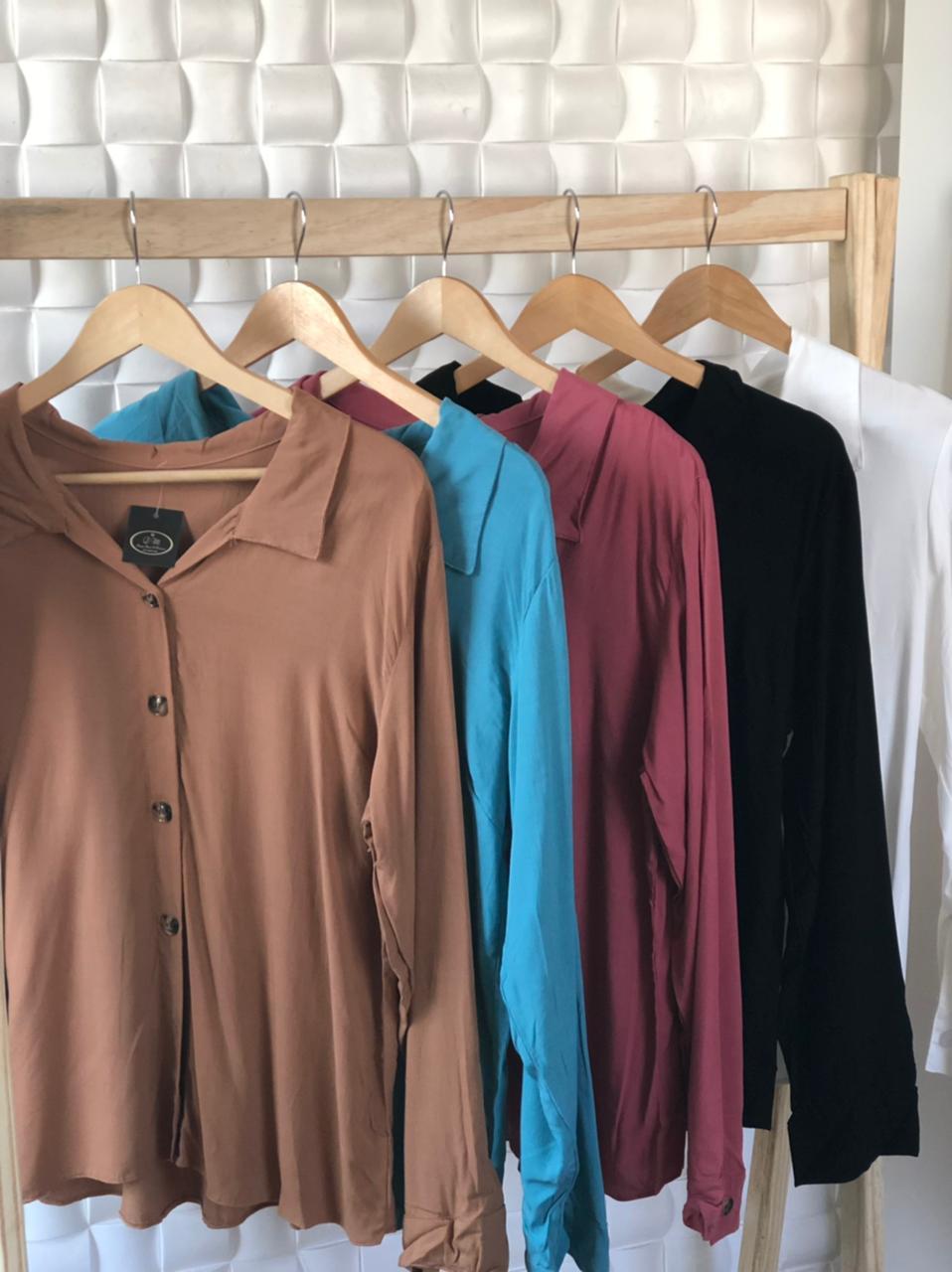 Camisa VIscolino Manga Longa
