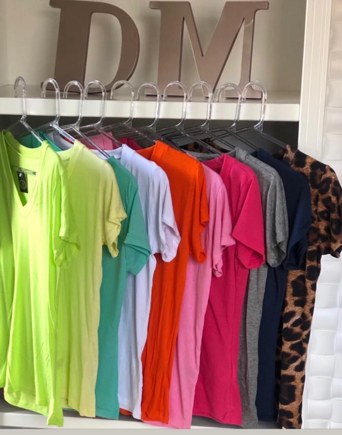 T-Shirt Camisa Podrinha Malha Fina