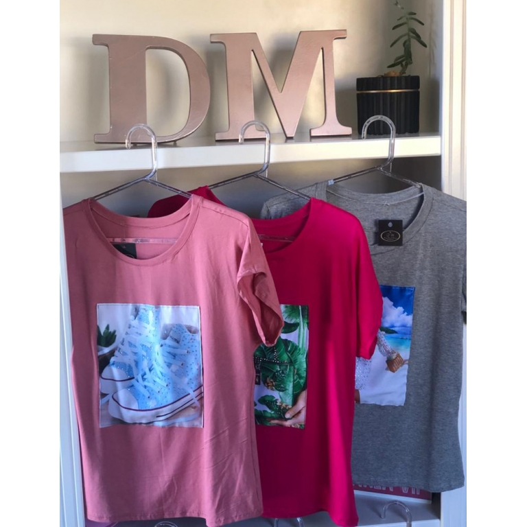 T-Shirt Estampada Feminina