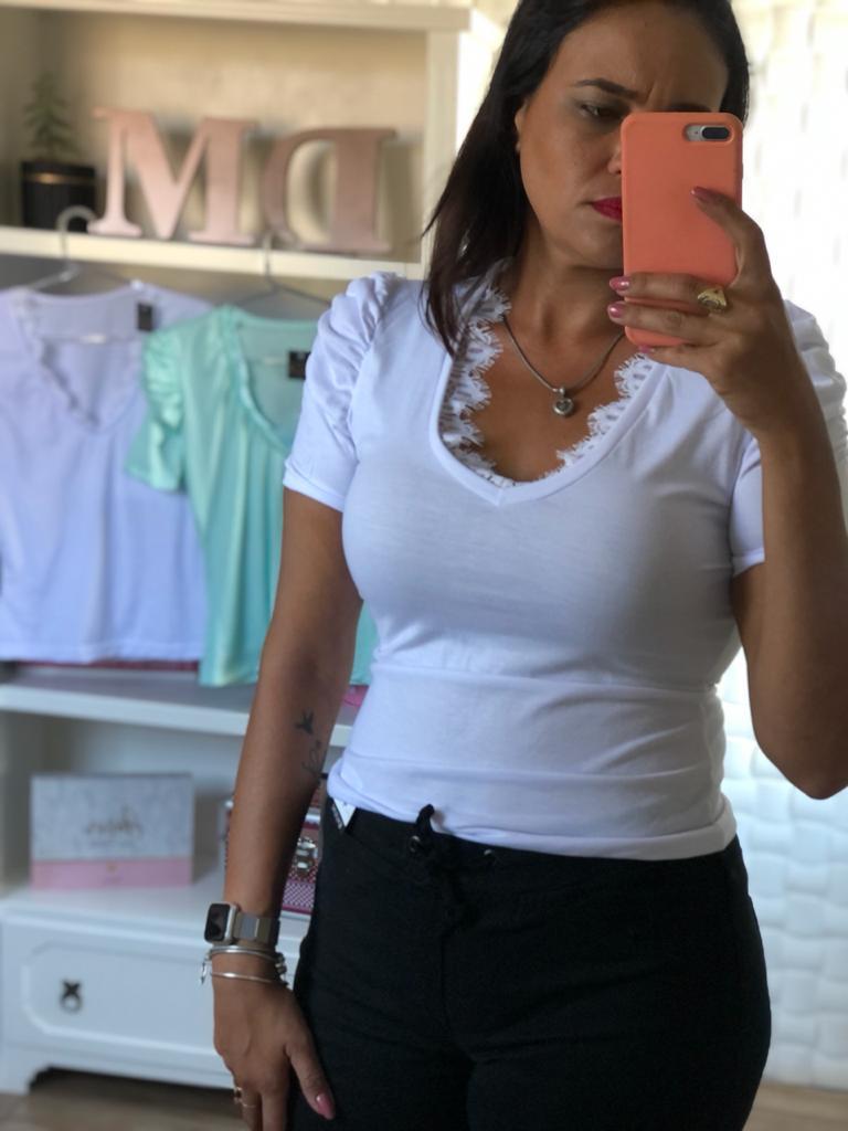 T-Shirts Branca Manga Curta