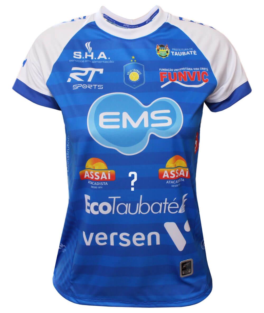 Camisa de Vôlei Taubaté 2020/21 Azul - Personalizada - Feminina