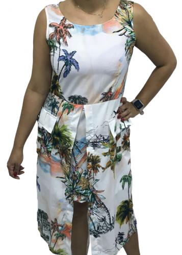 Vestido Saia Floral Mary