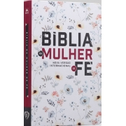 Bíblia de Estudo da Mulher de Fé | NVI| Letra Normal | Floral