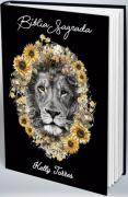 Bíblia Personalizada Com Nome | Leão Floral Girassol | Frete Grátis