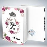 Bíblia Personalizada Com Nome| Branca Floral| Frete Grátis