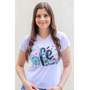 T-shirt Perolada | Fé é Certeza | Branca