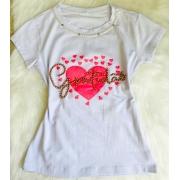 T-shirt Perolada | Gratidão | Branca
