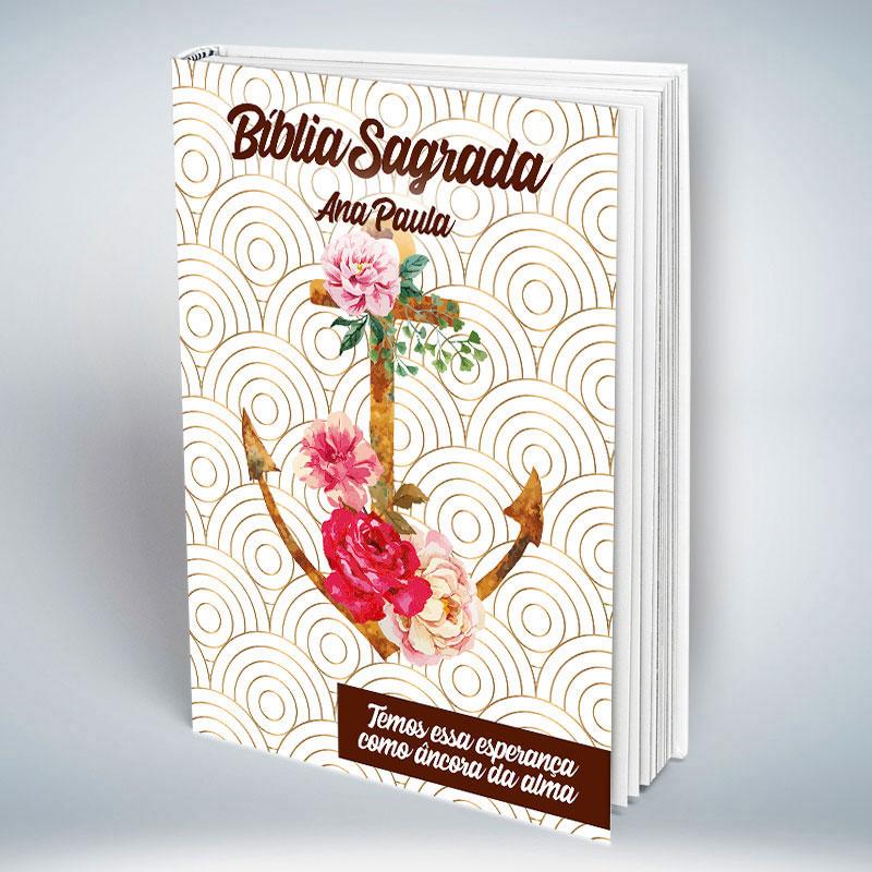Bíblia Personalizada Com Nome | Âncora Floral | Frete Grátis