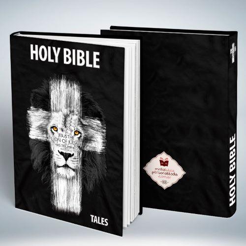 Bíblia Personalizada Com Nome   Leão de Judá   Frete Grátis