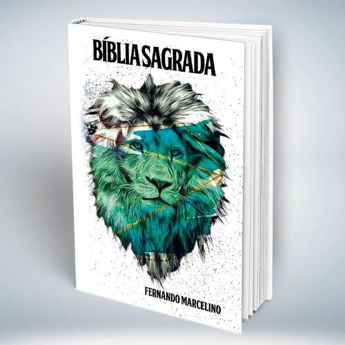 Bíblia Personalizada Com Nome | Leão do Apocalipse | Frete Grátis