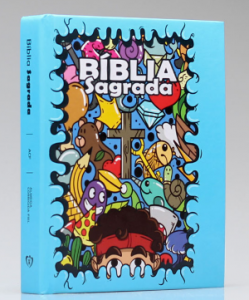 Bíblia Sagrada Infantil | ACF | Letra Média | Capa Dura | Azul