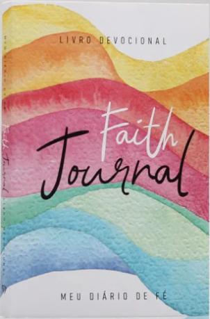 Devocional Faith Journal Meu Diário de Fé - Aquarela Arco-Íris