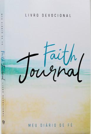 Devocional Faith Journal Meu Diário de Fé - Aquarela Praia