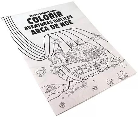 Tapete Gigante Para Colorir | Aventuras Bíblicas Arca de Noé | 96x66 cm