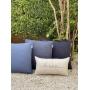 Almofada de Tricot Cesta (Capa + Enchimento) Azul índigo - 50x50