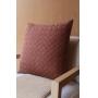 Almofada de Tricot Cesta (Capa + Enchimento) Chocolate - 50x50