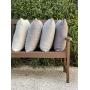Almofada de Tricot Cesta (Capa + Enchimento) Cinza Claro - 50x50