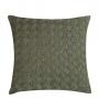 Almofada de Tricot Cesta (Capa + Enchimento) Verde Ardósia - 50x50