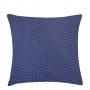 Almofada de Tricot Chevron (Capa + Enchimento) Azul Jeans - 50x50